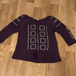Solitaire purple fall top
